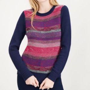MAISON JULES Birds Eye Knit Pullover Sweater